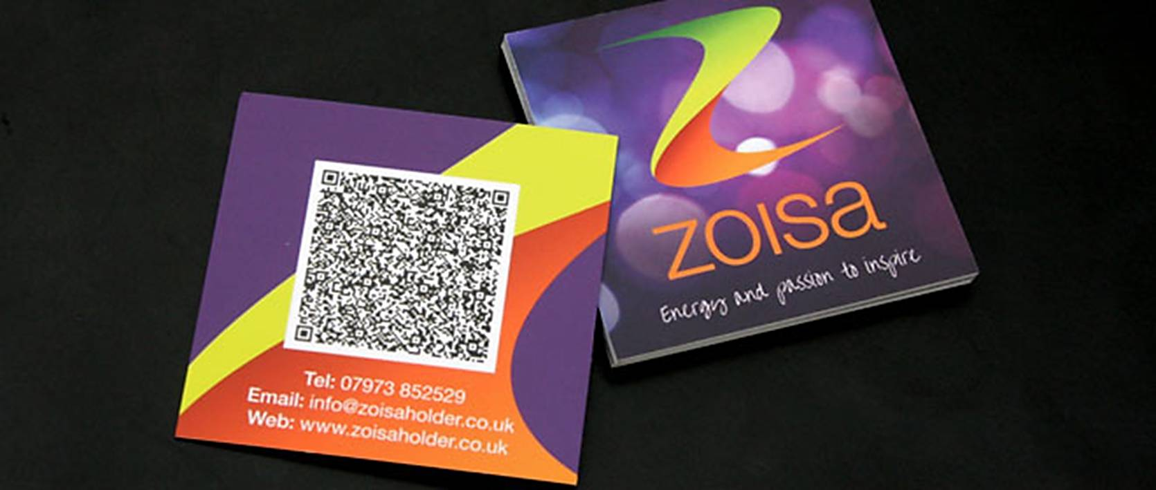 zoisa card with QR Code
