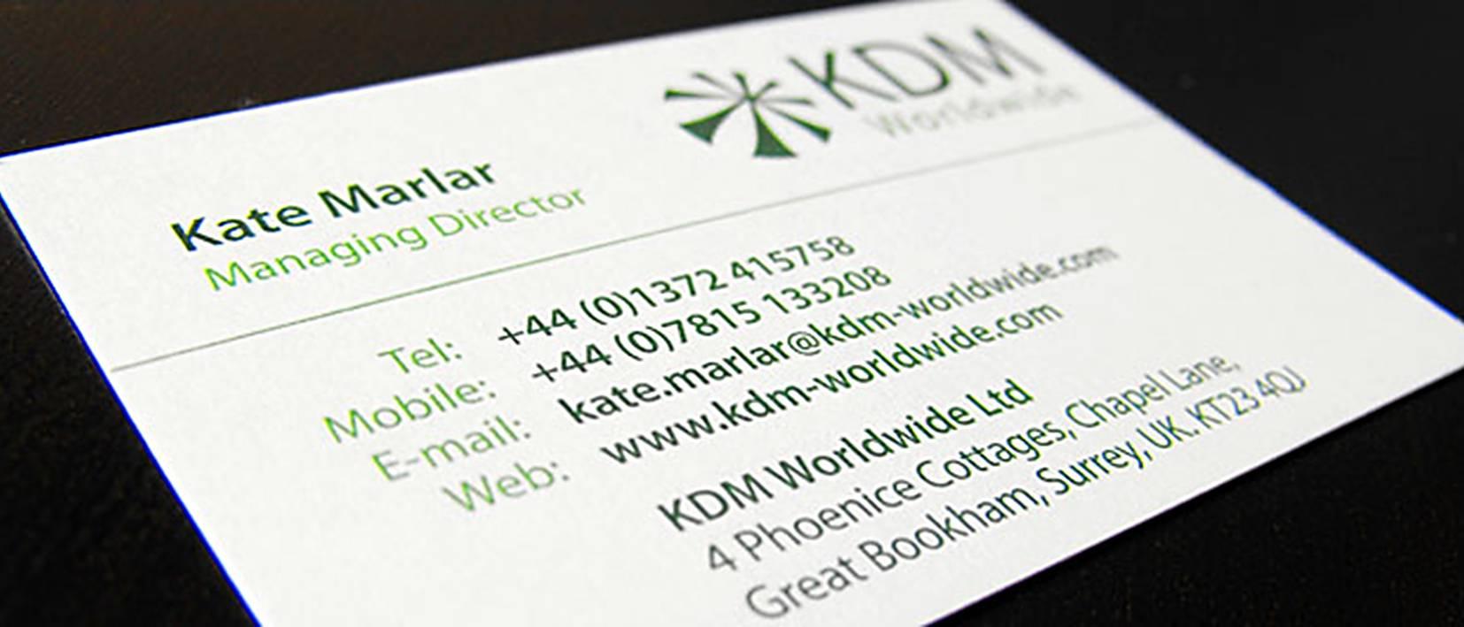 kdm client business card back