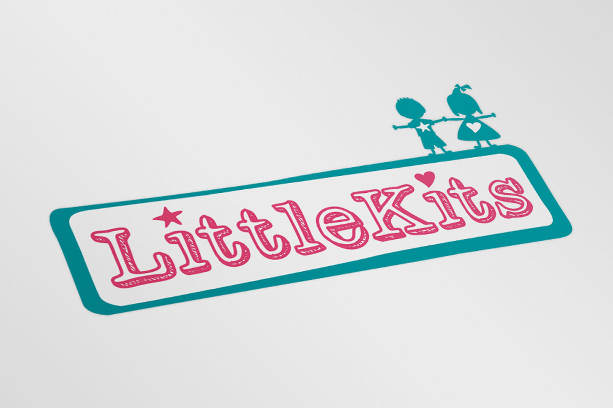 Littlekits Logo Design print white
