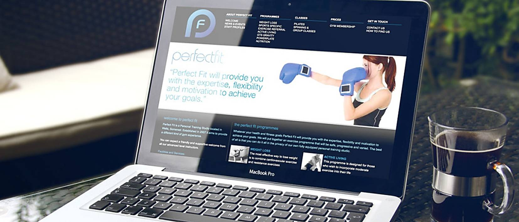 perfect fit homepage design example