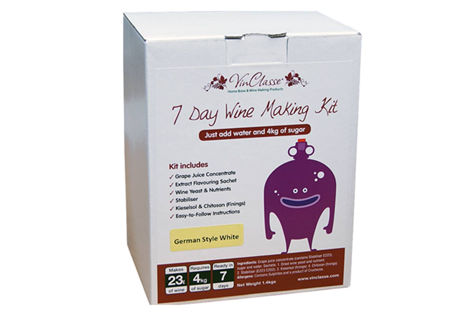 cardboard box packaging for wine making kit