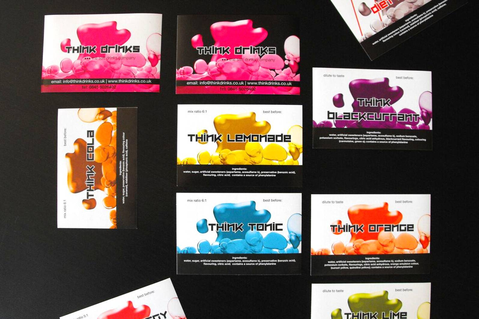 colourful business cards